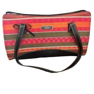 Retro Kate Spade Striped shoulder purse